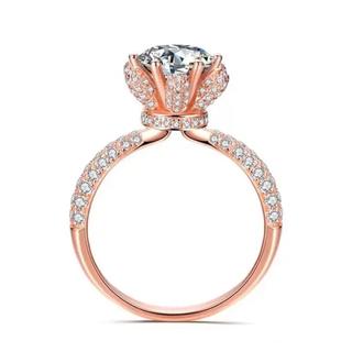 ☆数量限定☆ AAAランク ダイヤモンドcz リング 指輪 ピンクゴールド(リング(指輪))