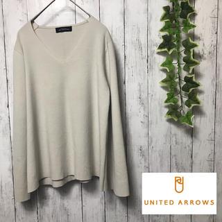 UNITED ARROWS - united arrows ユナイテッドアローズ Vネック 無地 カットソー