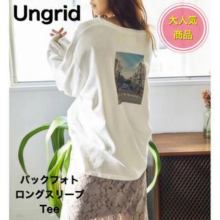 Ungrid - Ungrid  バックフォトロングスリーブTee 2020年新作 F ホワイト