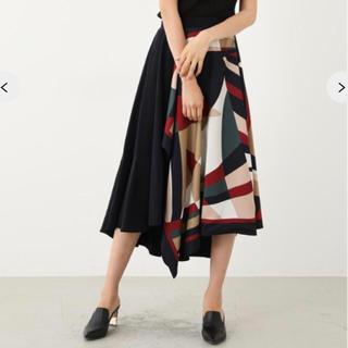 rienda - geometry  scarf フレアスカート