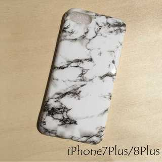 IP003 大理石 iPhoneケース ホワイト 7Plus/8Plus