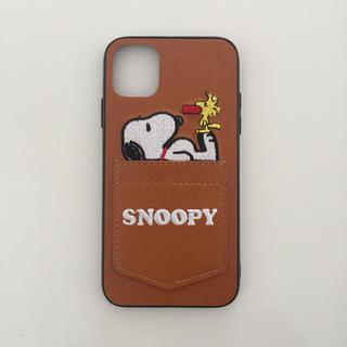 SNOOPY - スヌーピーiphoneケース 高級レザー☆新品 iphone11対応*