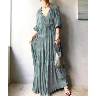 Ameri VINTAGE - 新品 アメリヴィンテージ SHIRRING PLEATS DRESS ミント S