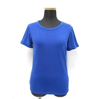 エキプモン(Equipment)のエキプモン シルク クルーネック 半袖 ニット カットソー S (Tシャツ(半袖/袖なし))