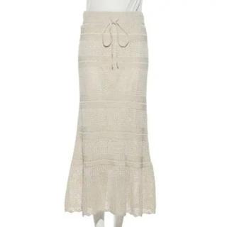 Mila Owen - 美品ミラオーウェン milaowen クロシェロングスカート
