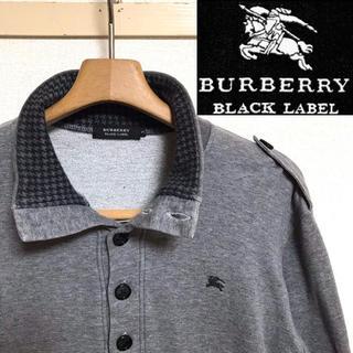 BURBERRY BLACK LABEL - 希少!BURBERRYバーバリー ホースマーク チドリ柄 ミリタリースウェット