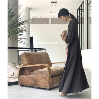 L'Appartement DEUXIEME CLASSE - 未使用 Appartement Linen Madam Dress ブラウン