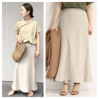 Plage - 4/7まで!【新品タグ付】Linen Bias スカート ナチュラル サイズ38