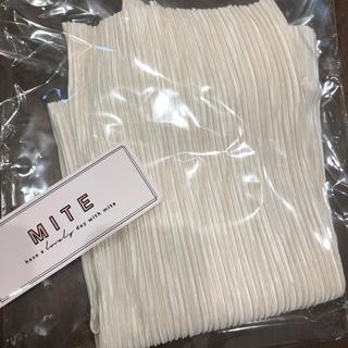 URBAN RESEARCH - 新品  mite  pleats straight skirt アイボリー