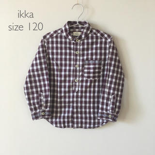 ikka - 120cm*ikka*チェックシャツ ボルドー