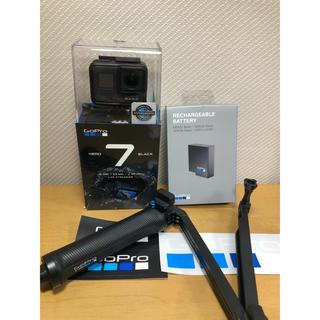 GoPro - GoPro HERO7 本体/予備バッテリー/3way 自撮り棒 三脚 純正