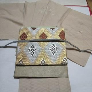 未使用変わり紗織の訪問着と、紗袋帯セット