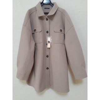 4L 大きいサイズ ベージュ シャツジャケット(ブルゾン)