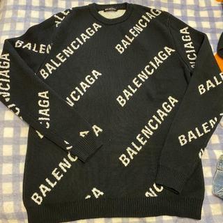 Balenciaga - BALENCIAGA バレンシアが ロゴセーター ウール製 S