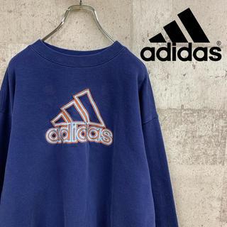 adidas - 90's adidas アディダス ロゴ刺繍 ゆるだぼ スエットトレーナー激レア