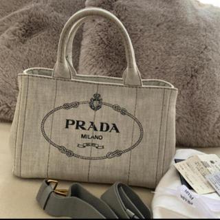 プラダ(PRADA)の❤️PRADA カナパM 薄グレー ビアンコ❤️(トートバッグ)