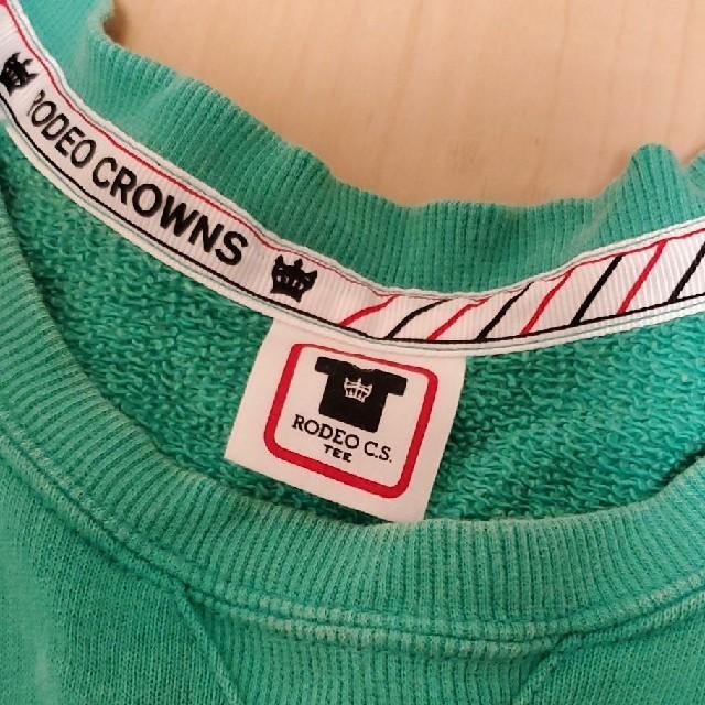 RODEO CROWNS(ロデオクラウンズ)のRODEO CROWNS☆グリーン トレーナー レディースのトップス(トレーナー/スウェット)の商品写真