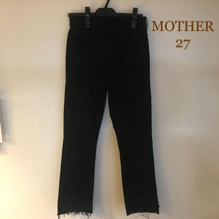 DEUXIEME CLASSE - MOTHER BLACK INSIDER CROP 27 マザー デニム 美品