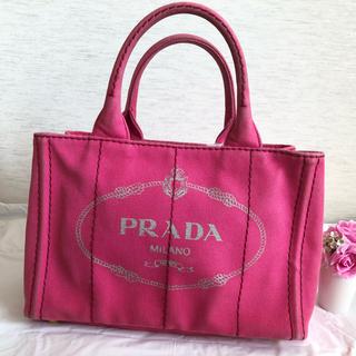 プラダ(PRADA)のプラダ ミニカナパ カナパ ピンク 定番 ハンドバッグ(ハンドバッグ)