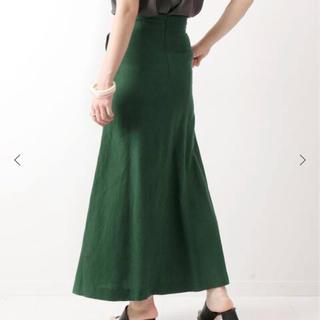 スピックアンドスパン(Spick and Span)のU by spick & span 裾フレアスカート 38 グリーン(ロングスカート)