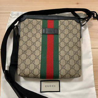 Gucci - GUCCI シェリーライン GGスプリーム フラット メッセンジャーバッグ