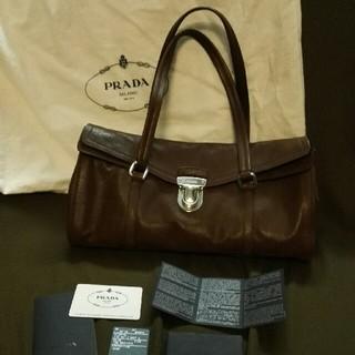 プラダ(PRADA)の美品 PRADA 山羊革 ハンドバック(ハンドバッグ)