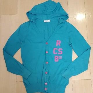 ロデオクラウンズ(RODEO CROWNS)のRODEO CROWNS☆グリーン ロゴカーディガン/羽織り(カーディガン)