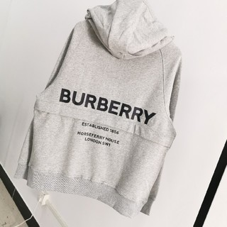 BURBERRY - BURBERRY コットン グレー パーカー