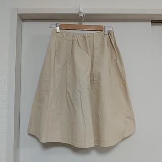 ヴィス(ViS)のVis/ベージュフレアスカート(ひざ丈スカート)