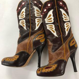 ドルチェアンドガッバーナ(DOLCE&GABBANA)のドルチェ&ガッバーナ  ウエスタンブーツ  37.5  (ブーツ)