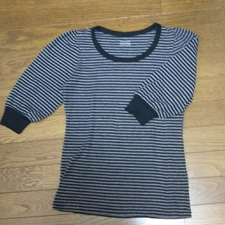 黒グレーのボーダーTシャツ(Tシャツ(半袖/袖なし))