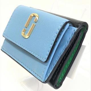 マークジェイコブス(MARC JACOBS)のMARC JACOBS マークジェイコブス ミニ 折財布 M0013597 水色(財布)