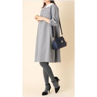 クチュールブローチ(Couture Brooch)の襟チェックワンピース(ひざ丈ワンピース)