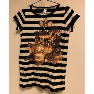 アチャチュムムチャチャ(AHCAHCUM.muchacha)のTシャツ あちゃちゅむ ムチャチャ ディズニー 不思議の国のアリス ボーダー(Tシャツ(半袖/袖なし))