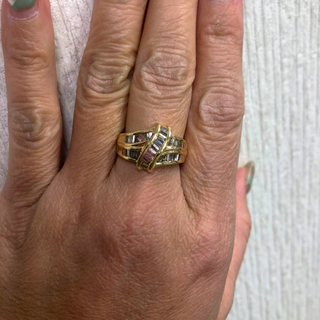 K18 合計1.00ct 天然 ダイヤ リング(リング(指輪))