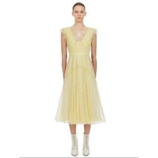 セルフポートレイト(SELF PORTRAIT)の正規品⭐️セルフポートレイト Yellow Fine Lace Dress(ロングワンピース/マキシワンピース)