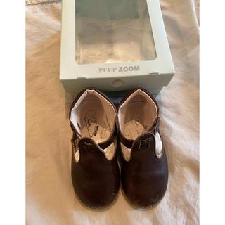 zoom Tストラップ 革靴 15.0cm 美品 ズーム(フラットシューズ)