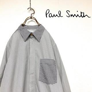 Paul Smith - 【美品】Paul Smith  モノトーンカラー デザインストライプ シャツ