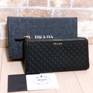 プラダ(PRADA)の《ほぼ未使用》PRADA(プラダ)長財布(財布)