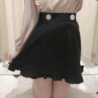 evelyn - evelyn ビジュー付きスカート