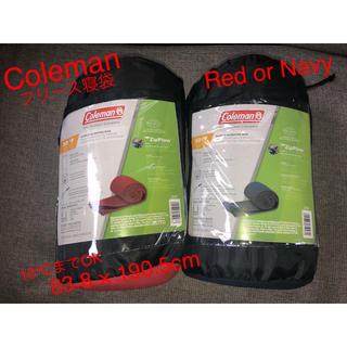 コールマン(Coleman)の【新品】コールマン フリース寝袋 Coleman Red(寝袋/寝具)