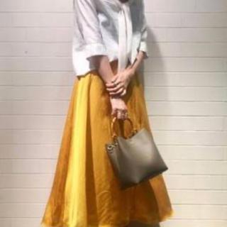 ノーブル(Noble)のNOBLE ブライト麻/TAロングフレアースカート(ロングスカート)