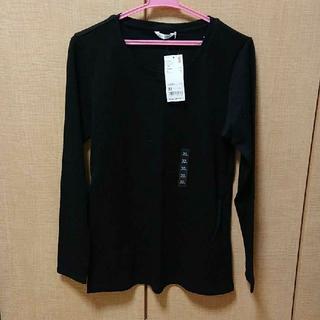 ✨未着用✨  UNIQLO  ストレッチコットンクルーネックT(Tシャツ(長袖/七分))