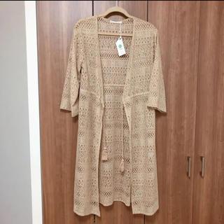 ikka - ikka イッカ カギ編みカーディガン