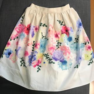 tocco - tocco トッコ 花柄フレアスカート