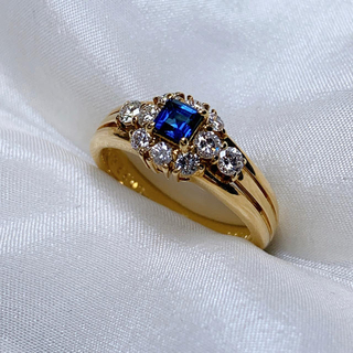 ポーラ(POLA)の☆セール POLA k18  サファイア  ダイヤモンド 指輪(リング(指輪))