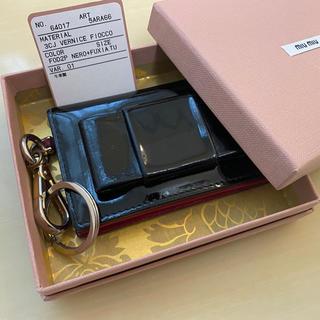 miumiu - miumiu カードケース リボン