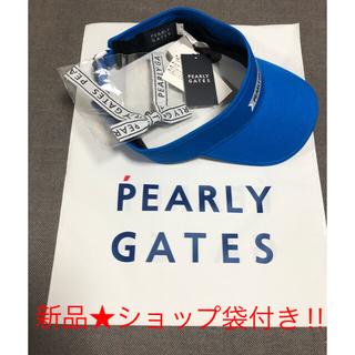 PEARLY GATES - 【新品 未使用】  PEARLYGATES リボン バイザー