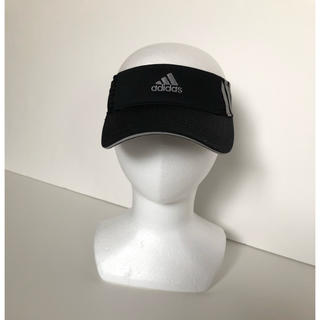 アディダス(adidas)の●アディダスadidas/サンバイザー 黒 頭囲57~59cm ゴルフ(サンバイザー)