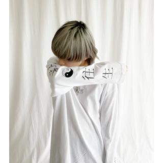 ファンキーフルーツ(FUNKY FRUIT)の 酔生夢死 Long sleeve Tee White(Tシャツ(長袖/七分))